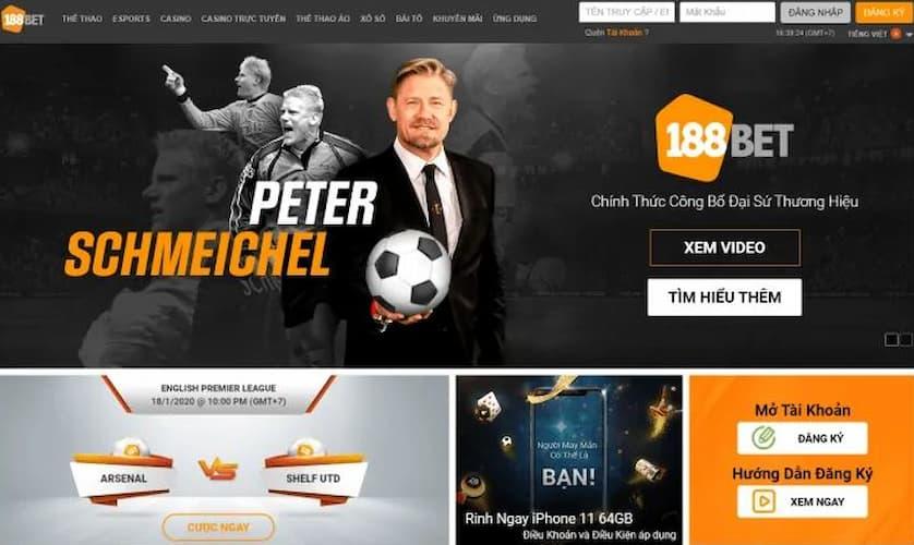 nhà cái 188bet chính thức công bố danh thủ Peter Schmeichel làm đại sứ thương hiệu