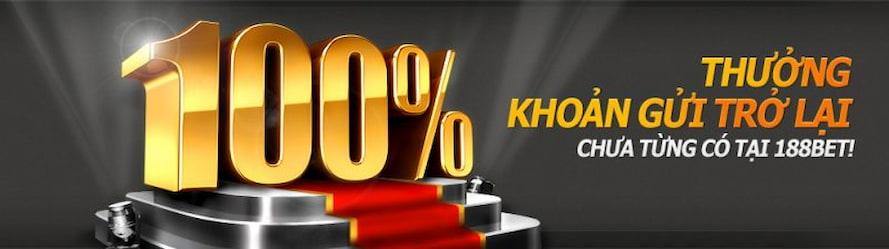 Khuyến mãi 100% khoản tiền gửi vào tài khoản lần đầu tiên
