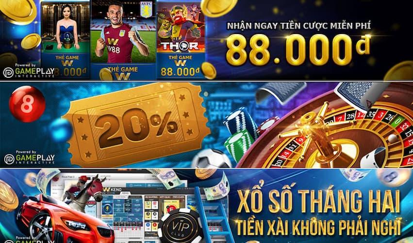 Chơi Casino online nhận thưởng đến 20%